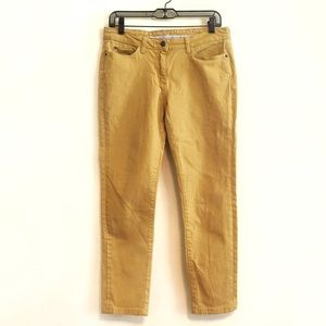 Boden Mustard Yellow Skinny Cropped Jeans Size 8